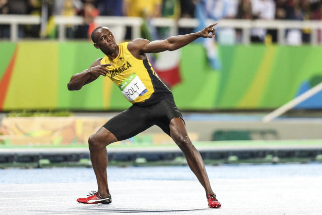 Usain Bolt at the 2016 Olympics in Rio. (Photo by William Volcov/Brazil Photo Press/LatinContent via Getty Images)