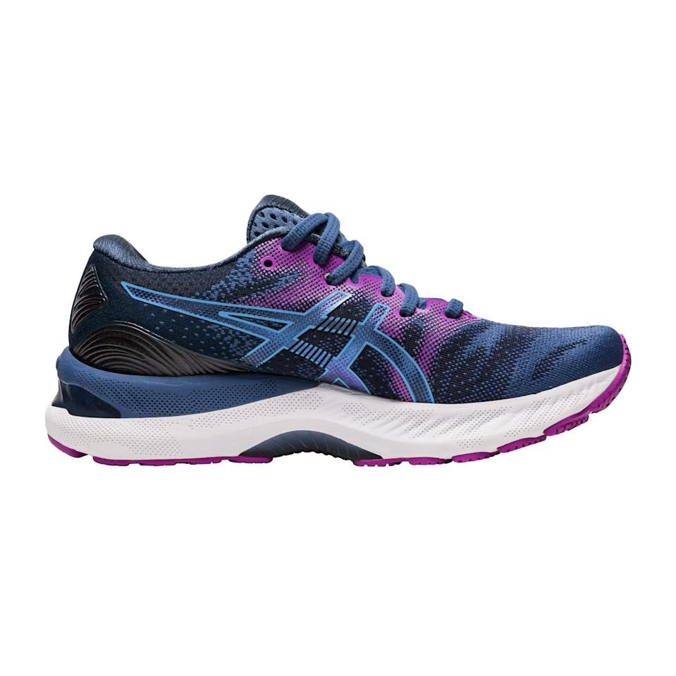 """<p><strong>AT</strong></p><p>asics.com</p><p><strong>$150.00</strong></p><p><a href=""""https://go.redirectingat.com?id=74968X1596630&url=https%3A%2F%2Fwww.asics.com%2Fus%2Fen-us%2Fgel-nimbus-23%2Fp%2FANA_1012A885-401.html&sref=https%3A%2F%2Fwww.prevention.com%2Ffitness%2Fworkout-clothes-gear%2Fg35229014%2Ffitness-awards-2021%2F"""" rel=""""nofollow noopener"""" target=""""_blank"""" data-ylk=""""slk:Shop Now"""" class=""""link rapid-noclick-resp"""">Shop Now</a></p><p>Our expert panel agrees that these sneakers are worth the investment. The gel-cushioned footbeds mitigate pain by contouring to the shape of your feet and protecting the plantar fascia. The breathable shoes also have extra cushioning in their midsoles for comfort and shock absorption. Bonus: They're made<br>with recycled materials.</p>"""