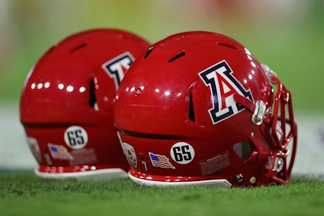 "Arizona dismissed linebacker <a class=""link rapid-noclick-resp"" href=""/ncaaf/players/274900/"" data-ylk=""slk:Santino Marchiol"">Santino Marchiol</a> from the program. (Getty Images)"