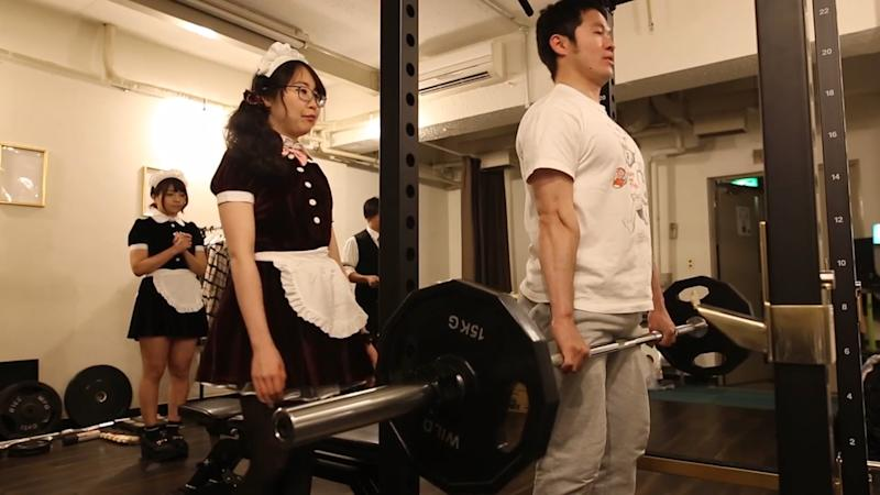 Maid in Tokyo: This Gym Adds a 'Frilly' Twist to Your Workout