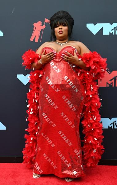 US singer Lizzo, shown her at the 2019 MTV Video Music Awards, has drawn legions of fans seduced by her unabashed message of body positivity