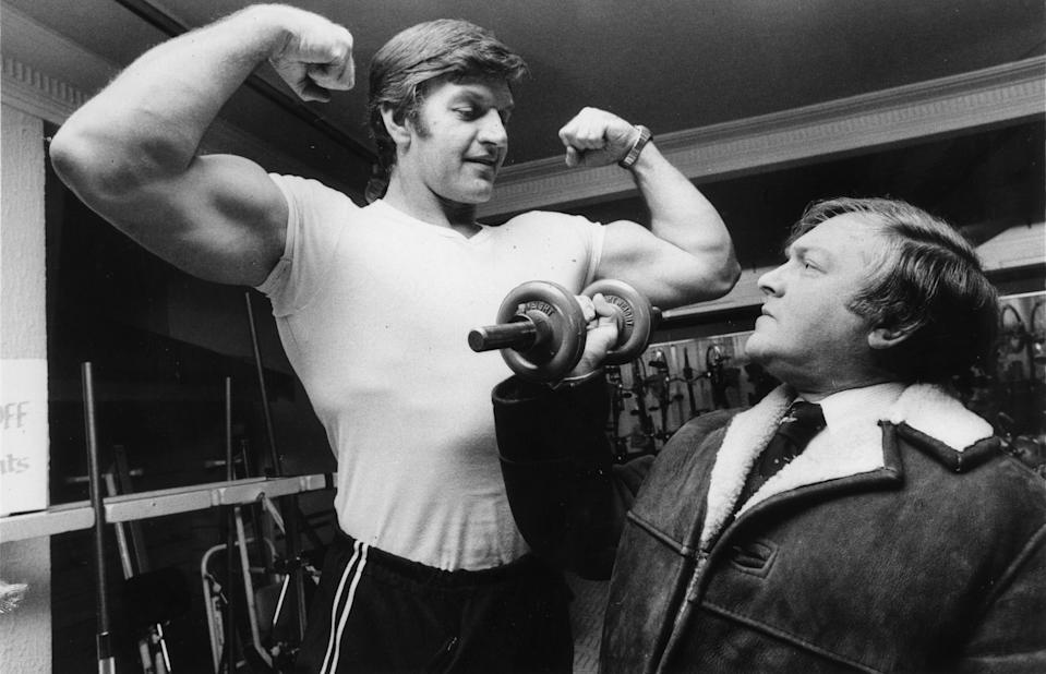 He represented England in weightlifting at the Commonwealth Games in the 1960s before becoming an actor. Photo: Getty