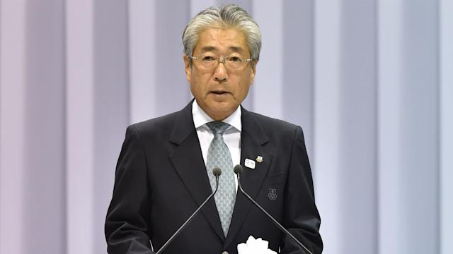 Tsunekazu Takeda denies any wrongdoing in the bidding process for the Tokyo Olympics, but will quit his role in June.