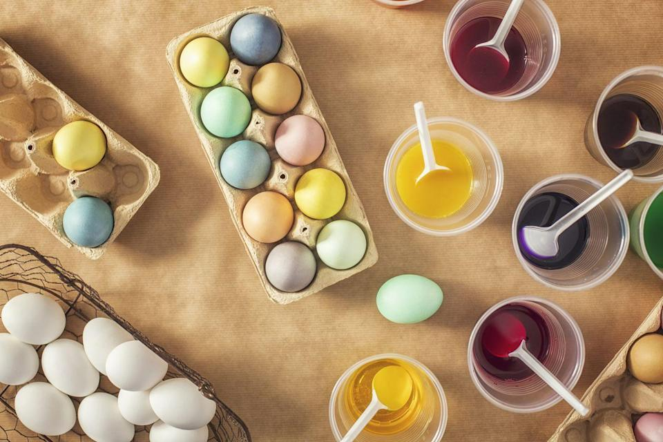 "<p>Well, at least that might be one of the reasons, which stems from <a href=""http://mentalfloss.com/article/49566/5-theories-about-why-we-dye-eggs-easter"" rel=""nofollow noopener"" target=""_blank"" data-ylk=""slk:early Christians in Mesopotamia"" class=""link rapid-noclick-resp"">early Christians in Mesopotamia</a>. There isn't a concrete reason behind the tradition, but there are several theories.</p><p><strong>RELATED:</strong> <a href=""https://www.goodhousekeeping.com/holidays/easter-ideas/how-to/a31737/natural-easter-egg-dyes/"" rel=""nofollow noopener"" target=""_blank"" data-ylk=""slk:How to Make Your Own Natural Easter Egg Dyes"" class=""link rapid-noclick-resp"">How to Make Your Own Natural Easter Egg Dyes</a></p>"