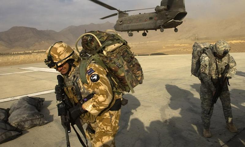 A New Zealand Army soldier in Khost province, Afghanistan, in 2008