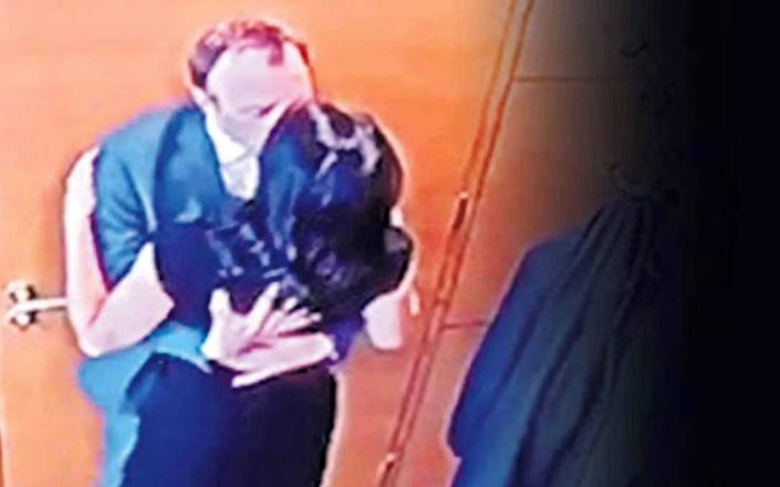 Footage of Matt Hancock sharing an embrace with Gina Coladangelo, one of his paid officials, was leaked to The Sun - The Sun