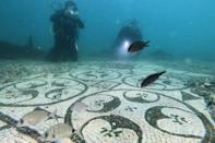 By the 4th century, the porticos, marble columns, shrines and ornamental fish ponds of Baiae had begun to sink due to bradyseism, the gradual rise and fall of land due to hydrothermal and seismic activity