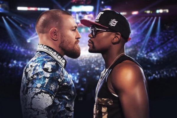Conor McGregor's Instagram promo poster for the unsigned fight with Floyd Mayweather.