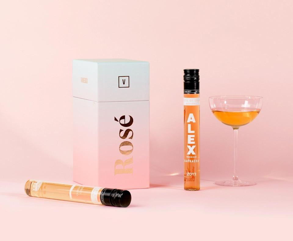 """<h2>VineBox Rosé Collection</h2><br>For budding somm-moms that are practically counting on receiving a Mother's Day wine delivery this year, this chic little box is filled with six chic little vials of individual rosé tastings — all of which pair perfectly with all things Vitamin D.<br><br><em>Shop <strong><a href=""""https://www.getvinebox.com/pages/give-a-gift"""" rel=""""nofollow noopener"""" target=""""_blank"""" data-ylk=""""slk:VineBox"""" class=""""link rapid-noclick-resp"""">VineBox</a></strong></em><br><br><strong>Vinebox</strong> The Rosé Collection, $, available at <a href=""""https://go.skimresources.com/?id=30283X879131&url=https%3A%2F%2Fwww.getvinebox.com%2Fproducts%2Frose-wine"""" rel=""""nofollow noopener"""" target=""""_blank"""" data-ylk=""""slk:Vinebox"""" class=""""link rapid-noclick-resp"""">Vinebox</a>"""