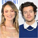 "According to a source who spoke to <a href=""https://people.com/movies/olivia-wilde-harry-styles-seen-holding-hands-dating/?utm_medium=browser&utm_source=people.com&utm_content=20210104&utm_campaign=759482"" rel=""nofollow noopener"" target=""_blank"" data-ylk=""slk:People"" class=""link rapid-noclick-resp""><em>People</em></a><em>,</em> Styles and Wilde are an item. <a href=""https://www.glamour.com/story/harry-styles-and-olivia-wilde-dating?mbid=synd_yahoo_rss"" rel=""nofollow noopener"" target=""_blank"" data-ylk=""slk:Rumors first picked up steam"" class=""link rapid-noclick-resp"">Rumors first picked up steam</a> on January 4 after photos of the two holding hands at Styles's manager's wedding <a href=""https://twitter.com/hsdcandids/status/1346155702633566211"" rel=""nofollow noopener"" target=""_blank"" data-ylk=""slk:surfaced"" class=""link rapid-noclick-resp"">surfaced</a>. ""They were affectionate around their friends, held hands, and looked very happy,"" the source said."