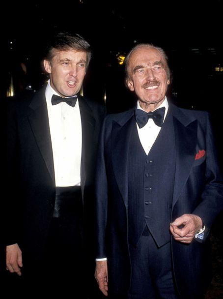 PHOTO: Donald Trump, left, and father Fred Trump celebrate the launch of 'The Art of the Deal' at Trump Towers in New York City. (Ron Galella/WireImage/Getty Images)