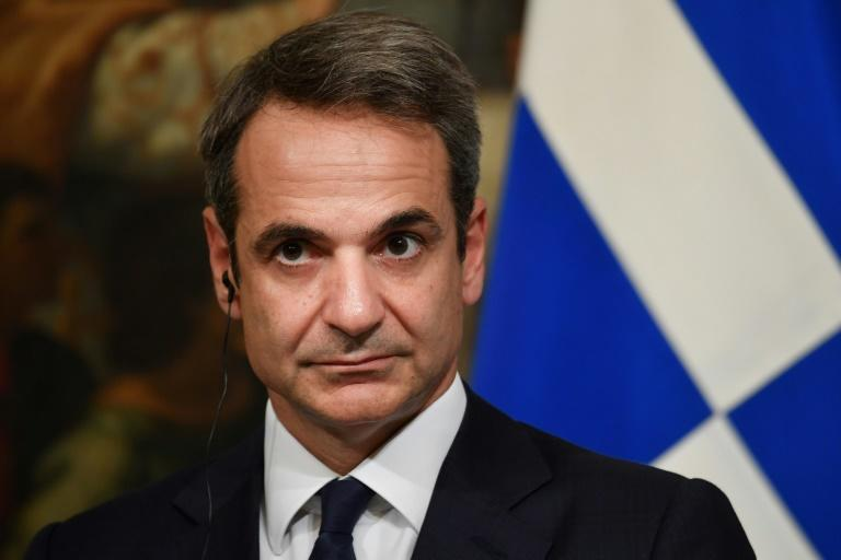 """Greek Prime Minister Kyriakos Mitsotakis (pictured November 2019) said an alliance """"cannot remain indifferent when one of its members openly violates international law"""""""