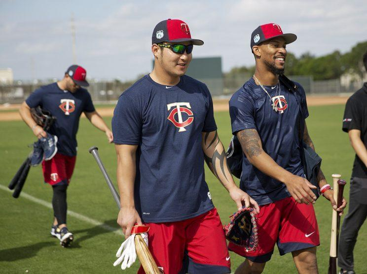 A big question for the Twins: Will Byron Buxton, right, pick up where he left off last season? (AP)