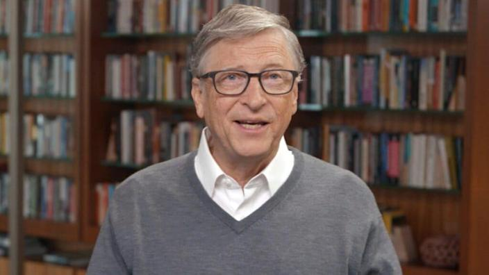 """Microsoft founder Bill Gates speaks during """"All In WA: A Concert For COVID-19 Relief"""" last June in Washington. (Photo by Getty Images/Getty Images for All In WA)"""