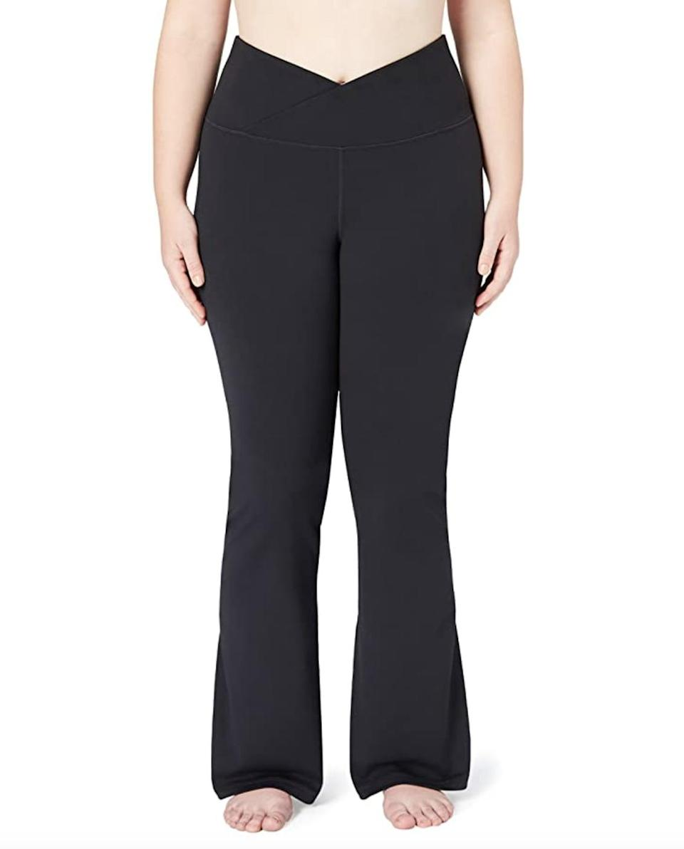<p>Design your dream pair of leggings with the <span>Core 10 Build Your Own Yoga Bootcut Pants</span> ($30). You can choose between three different waist options (including the cute cross waist pictured here), three lengths, and two colors.</p>