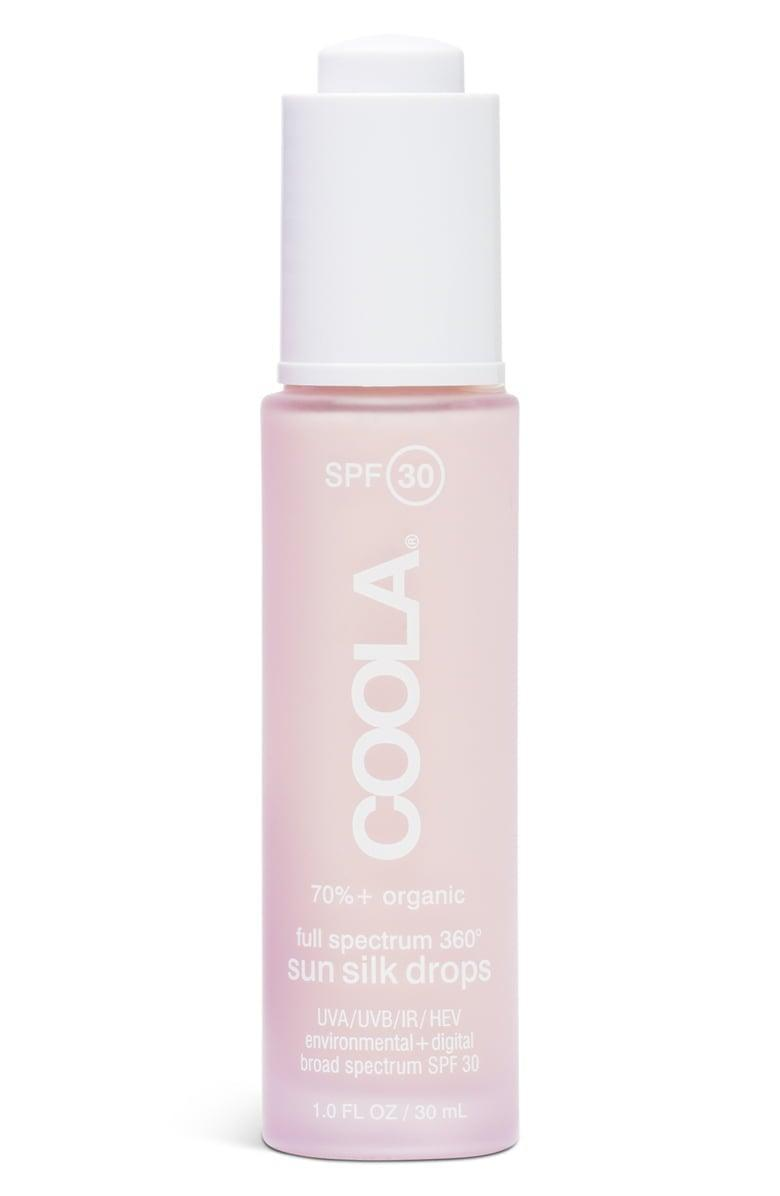 <p>Add a couple drops of this innovative <span>Coola Suncare Full Spectrum 360 Sun Silk Drops SPF 30</span> ($46) to your serum or moisturizer for sun protection all day long.</p>