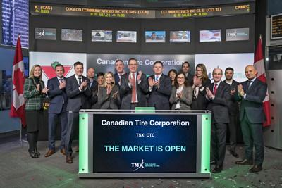 Canadian Tire Corporation, Limited Opens the Market (CNW Group/TMX Group Limited)