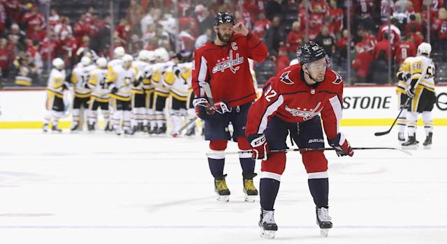 The Capitals stuck to the script in Game 1 vs. the Penguins. (Photo by Bruce Bennett/Getty Images)