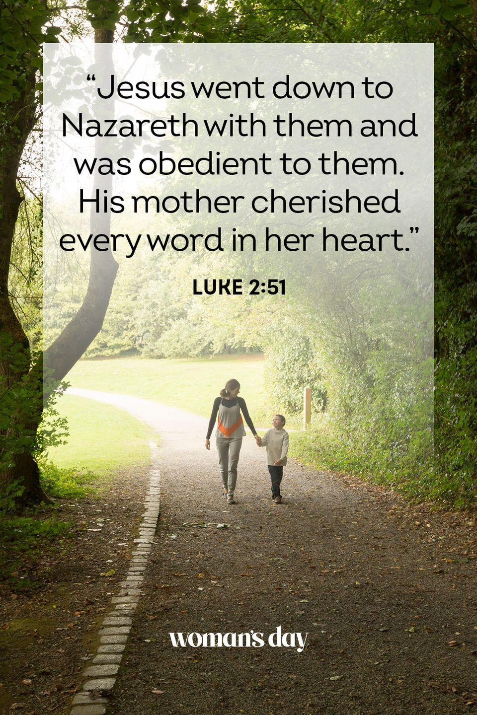 "<p>""Jesus went down to Nazareth with them and was obedient to them. His mother cherished every word in her heart.""</p><p><strong>The Good News:</strong> A mother's joy is one that cannot be duplicated.</p>"