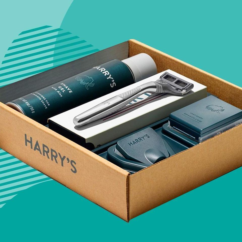 """<p><strong>Harry's</strong></p><p>harrys.com</p><p><strong>$25.00</strong></p><p><a href=""""https://go.redirectingat.com?id=74968X1596630&url=https%3A%2F%2Fwww.harrys.com%2Fen%2Fus%2Fproducts%2Fthe-winston-set&sref=https%3A%2F%2Fwww.bestproducts.com%2Flifestyle%2Fg376%2Ftop-christmas-gift-ideas%2F"""" rel=""""nofollow noopener"""" target=""""_blank"""" data-ylk=""""slk:Shop Now"""" class=""""link rapid-noclick-resp"""">Shop Now</a></p><p>While basic shave kits are great, the Winston set from Harry's is a practical (yet slightly more luxe) gift for the guy who appreciates a good shave.</p>"""