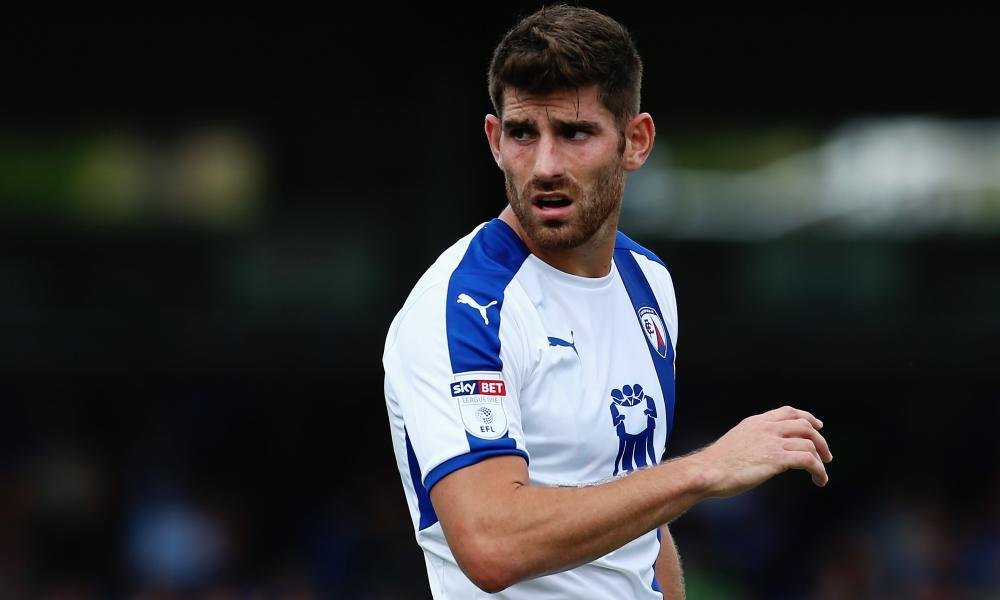 Ched Evans has been playing for Chesterfield this season.