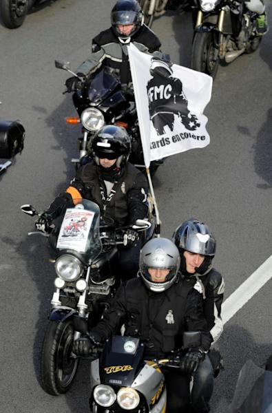 Manifestation de motards, le 21 octobre 2017 à Paris