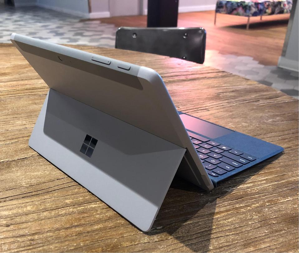 The Surface Go is a a much smaller version of the standard Surface Pro.