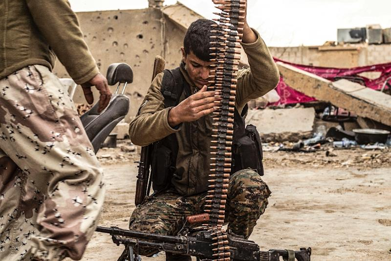 The Kurdish-led Syrian Democratic Forces are trying to pound the last remaining jihadists into surrender (AFP Photo/Delil SOULEIMAN)