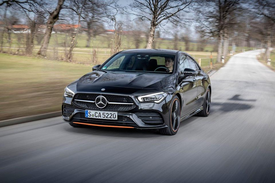 "<p>Buying an entry-level <a href=""https://www.caranddriver.com/mercedes-benz"" rel=""nofollow noopener"" target=""_blank"" data-ylk=""slk:Mercedes-Benz"" class=""link rapid-noclick-resp"">Mercedes-Benz</a> such as the <a href=""https://www.caranddriver.com/mercedes-benz/cla-class"" rel=""nofollow noopener"" target=""_blank"" data-ylk=""slk:2021 CLA-class"" class=""link rapid-noclick-resp"">2021 CLA-class</a> no longer means compromising on refinement or driving satisfaction. While it shares its platform with the <a href=""https://www.caranddriver.com/mercedes-benz/a-class"" rel=""nofollow noopener"" target=""_blank"" data-ylk=""slk:A-class sedan"" class=""link rapid-noclick-resp"">A-class sedan</a>, the CLA250 offers swoopier, coupe-like styling, and a more powerful 221-hp turbocharged 2.0-liter four-cylinder engine. Inside, Mercedes's newly tech-focused cabin is on display with a dual-screen dashboard that's comprised of a reconfigurable gauge display and either a 7.0- or 10.3-inch touchscreen infotainment system. Handling is reasonably nimble and the ride is refined. It's not particularly roomy, especially in the rear seat, but cargo space is more than enough for most use cases. Overall, the CLA250 represents the modern Mercedes-Benz experience in a bite-sized package.</p><p><a class=""link rapid-noclick-resp"" href=""https://www.caranddriver.com/mercedes-benz/cla-class"" rel=""nofollow noopener"" target=""_blank"" data-ylk=""slk:Review, Pricing, and Specs"">Review, Pricing, and Specs</a></p>"