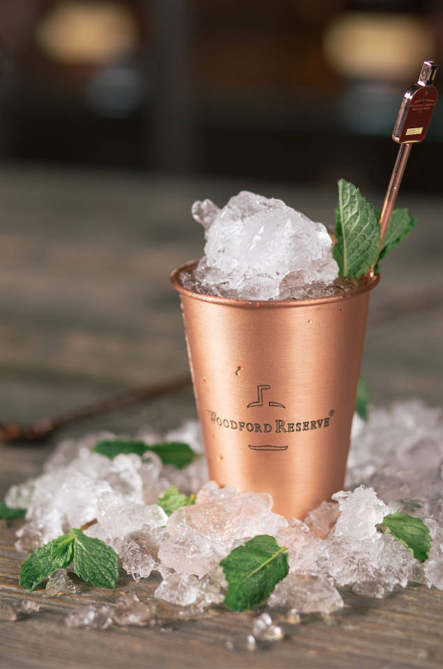 <p><strong>Ingredients</strong></p><p>2 oz Woodford Reserve <br>1 oz water <br>4 sprigs of fresh mint <br>1 tsp sugar <br>Crushed ice </p><p><strong>Instructions </strong></p><p>In a copper julep cup rub 2 pieces of fresh mint around the cup to express the oils. Add Woodford Reserve, then the water and sugar and stir with a bar spoon. Add crushed ice to the top then garnish with sprigs of mint. </p>