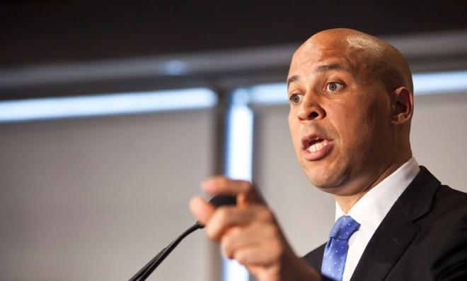 Newark Mayor Cory Booker announces his plans to campaign for the seat of the late U.S. Sen. Frank Lautenberg.
