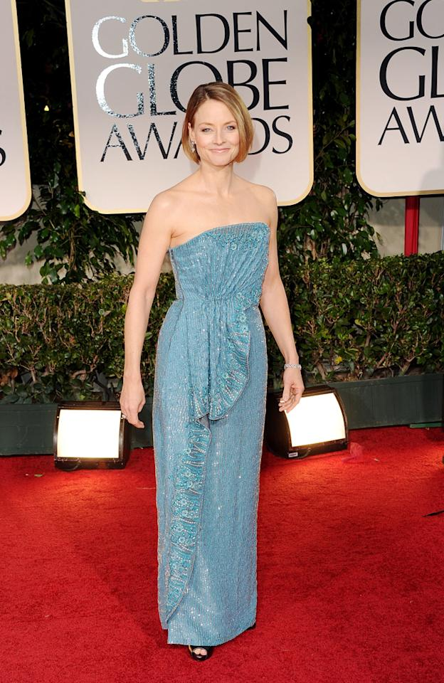 Jodie Foster arrives at the 69th Annual Golden Globe Awards in Beverly Hills, California, on January 15.