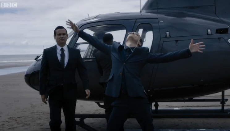 Yes, Moriarty, we do miss you. But still, Best.Entrance.Ever