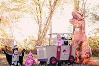 """<p>From inflatable dinosaur costumes to baby dinos, it's easy to fill out a brood full of jurassic creatures. And the jeep? That's a wheelchair adaptive costume!</p><p><em><a href=""""https://www.sarahhalstead.com/dinosaurs-jurassic-park-jeep-wheelchair-costume/"""" rel=""""nofollow noopener"""" target=""""_blank"""" data-ylk=""""slk:See more at Sarah Halstead »"""" class=""""link rapid-noclick-resp"""">See more at Sarah Halstead »</a></em></p><p><strong>RELATED:</strong> <a href=""""https://www.goodhousekeeping.com/holidays/halloween-ideas/g33632924/adaptive-wheelchair-halloween-costumes"""" rel=""""nofollow noopener"""" target=""""_blank"""" data-ylk=""""slk:The Best Adaptive and Wheelchair Costumes for a Creative Halloween"""" class=""""link rapid-noclick-resp"""">The Best Adaptive and Wheelchair Costumes for a Creative Halloween</a></p>"""