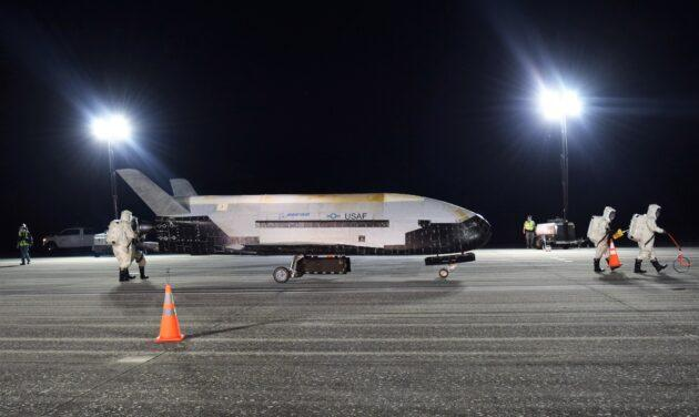 Secretive US military spaceplane lands following record-long flight