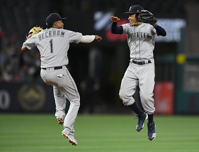The Seattle Mariners snapped a six-game losing streak on Thursday, defeating the Los Angeles Angels, 11-10. (Getty Images)