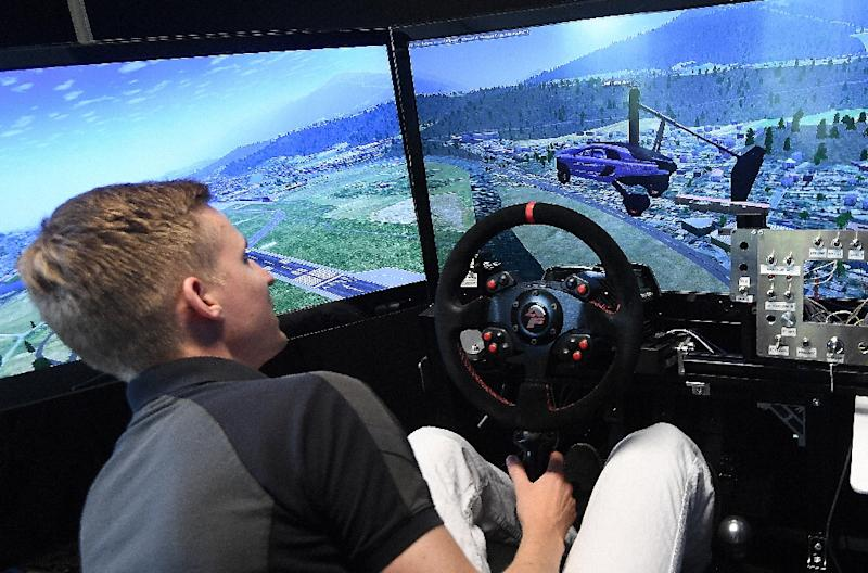 This flight simulator from Dutch firm PAL-V offers a taste of what this kind of flying might be like, but developers also have to factor in the safety implications of this new kind of traffic (AFP Photo/EMMANUEL DUNAND)