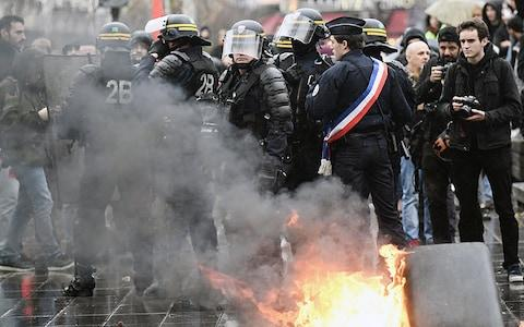 Thousands of police will be deployed across Paris this weekend - Credit: Getty