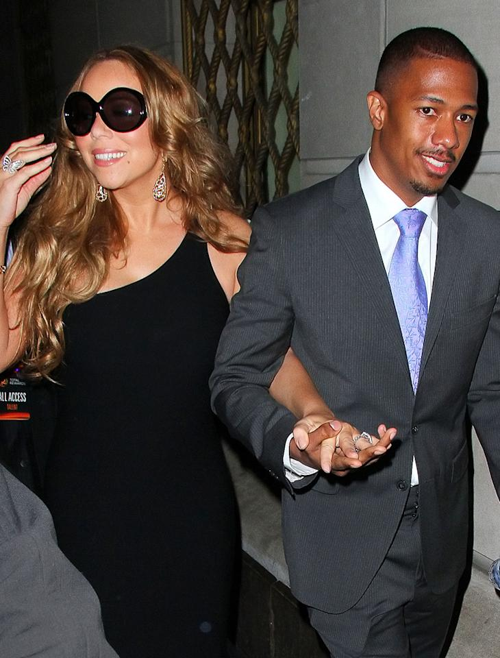"<h2><span style=""font-size:10.0pt;font-weight:normal;"">It may seem like media staples Nick Cannon, 31, and Mariah Carey, 42, have been together forever, but they surprised the world when they tied the knot in a secret ceremony in the Bahamas on April 30, 2008, before anyone could even confirm they were dating, much less dating (though Carey was spotted wearing a giant engagement ring in late April 2008, which prompted rumors). Three years to the day after the couple wed, Carey gave birth to their boy-girl twins, Moroccan and Monroe, at age 41. ""I'm just happy to be in love and to be here,"" she told Barbara Walters last year. </span></h2>"