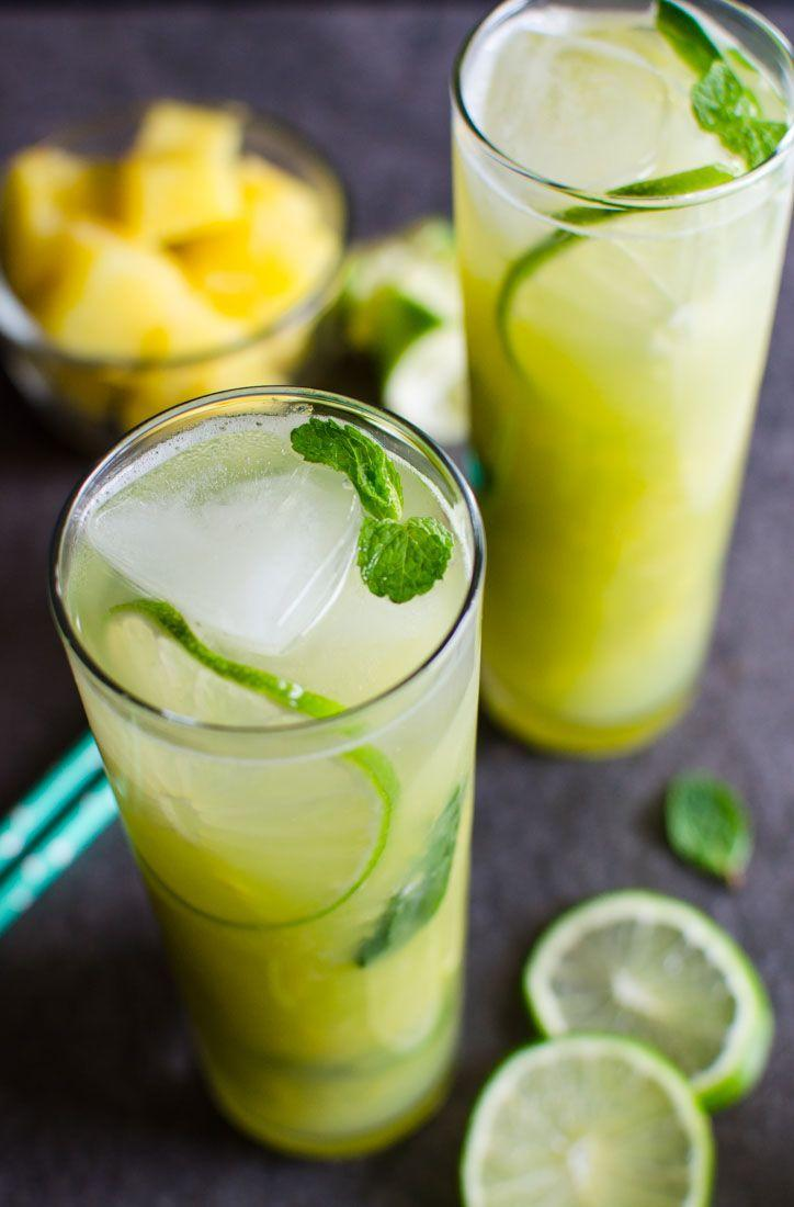 "<p>Cool off on a hot summer day with this tropical, alcohol-free mojito. </p><p><strong><em>Get the recipe at <a href=""http://www.watchwhatueat.com/non-alcoholic-pineapple-mojito/"" rel=""nofollow noopener"" target=""_blank"" data-ylk=""slk:Watch What U Eat"" class=""link rapid-noclick-resp"">Watch What U Eat</a>.</em></strong></p>"