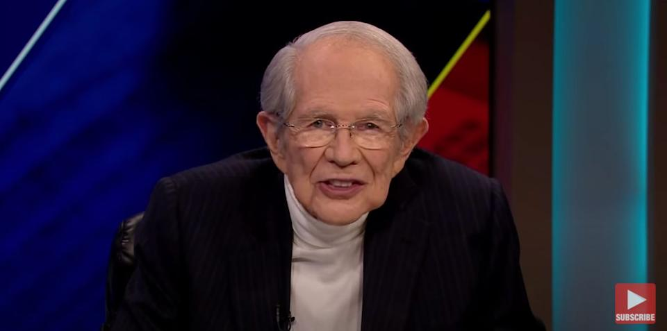 "Pat Robertson hosts the ""The 700 Club"" on the Christian Broadcast Network. (Photo: The 700 Club - April 20, 2020 / YouTube)"