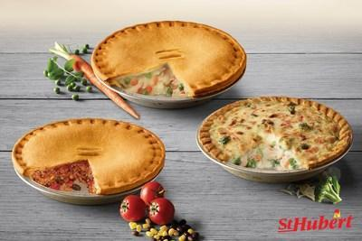Launch of St-Hubert's new refrigerated meatless pot pies. St-Hubert innovates with its line of vegetarian products in Quebec's grocery stores (CNW Group/St-Hubert Group)