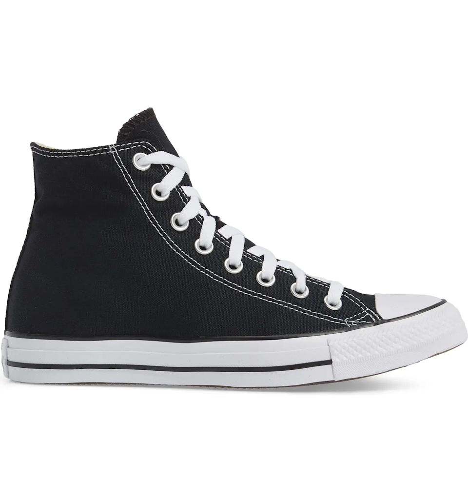 "<br><br><strong>Converse</strong> Chuck Taylor® High Top Sneaker, $, available at <a href=""https://go.skimresources.com/?id=30283X879131&url=https%3A%2F%2Fwww.nordstrom.com%2Fs%2Fconverse-chuck-taylor-high-top-sneaker-women%2F2904662"" rel=""nofollow noopener"" target=""_blank"" data-ylk=""slk:Nordstrom"" class=""link rapid-noclick-resp"">Nordstrom</a>"