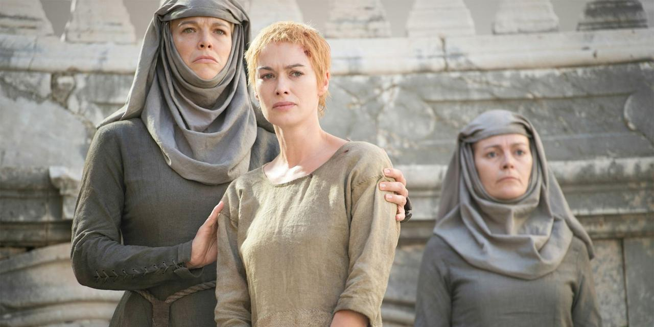 "<p>Hannah Waddington, who played Septa Unella (AKA the ""shame nun""), was <a href=""https://www.yahoo.com/entertainment/game-of-thrones-shame-nun-interview-152144137.html"" target=""_blank"">eight months pregnant</a> when she first auditioned for the role. Her child was about 10 weeks old when she was <a href=""https://www.vulture.com/2015/06/hannah-waddingham-on-cersei-drama-got-fashion.html"" target=""_blank"">filming in Croatia</a>.</p>"
