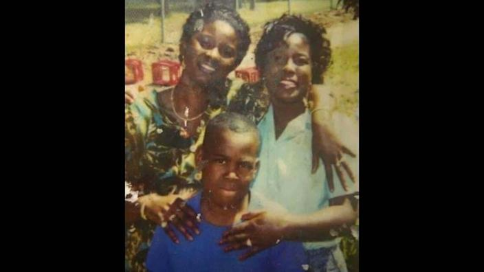 Lillian Nance, right, with her then-7-year-old son, Markeveus, and her older sister Carolyn Nance in an undated photo.