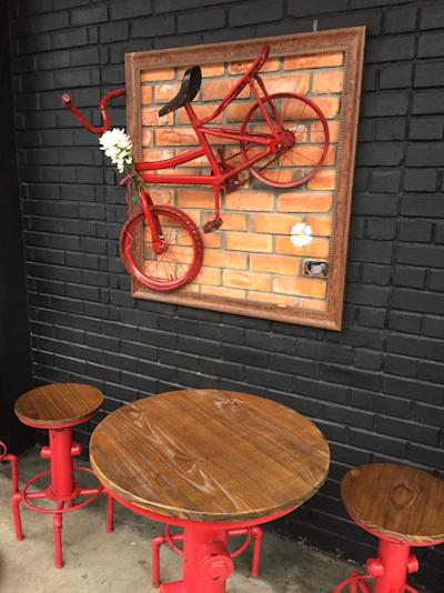 Cafes like The Workshop, with their unique aesthetics, give Jalan Dewan a newer modern look.