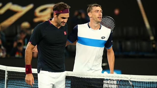 """He has nothing against the """"statistics people"""", but Roger Federer's unforced error count against John Millman does not concern the Swiss."""