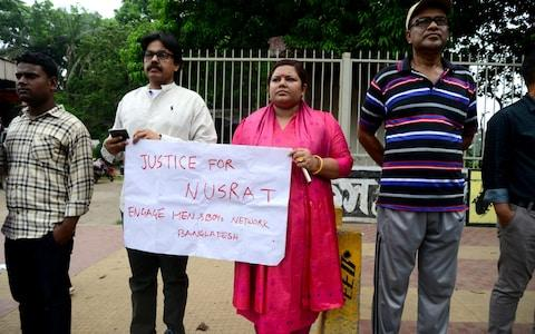People in Bangladesh are protesting for justice for Ms Rafi - Credit: Mamunur Rashid/NurPhoto via Getty Images