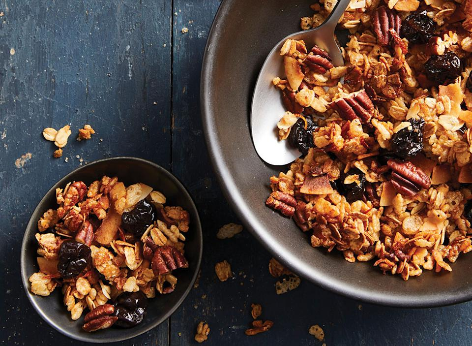 Honey pecan cherry granola