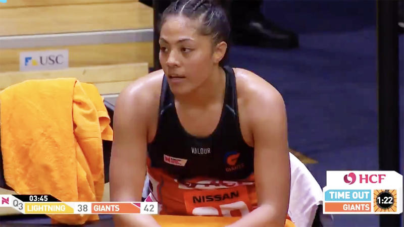 Kristiana Manu'a was stunned to have been sent-off. Image: Channel Nine